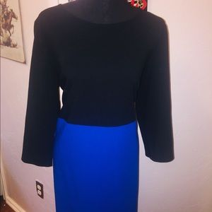 Royal Blue and Black business all business dress